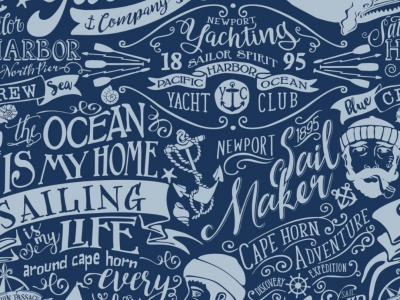05m BW Canvas Sailor Maritim blau