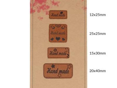 Pck Handmadel Label Kunstleder Handmade braun