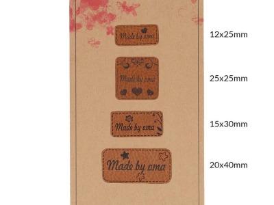 Pck Handmadel Label Kunstleder Made by