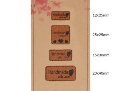 Pck Handmadel Label Kunstleder Handmade with
