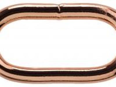 1Stk Ovalring 30 mm roségold