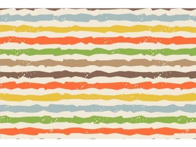 05m Jersey Unregelmäßige Streifen creme bunt