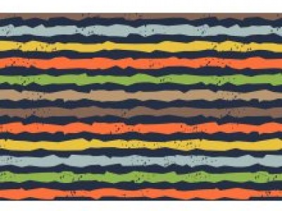 05m Jersey Unregelmäßige Streifen dunkelblau bunt