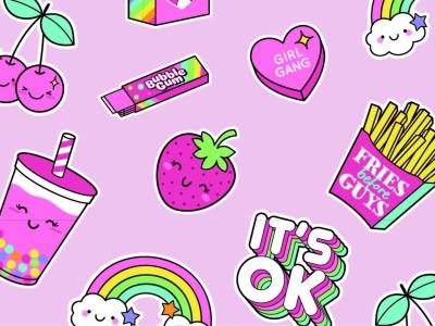 05m Jersey Summertime Eis Pommes Regenbogen