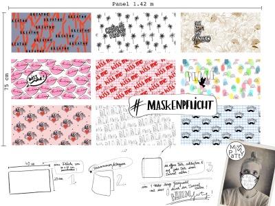1 Panel Masken Baumwolle Miss Patty