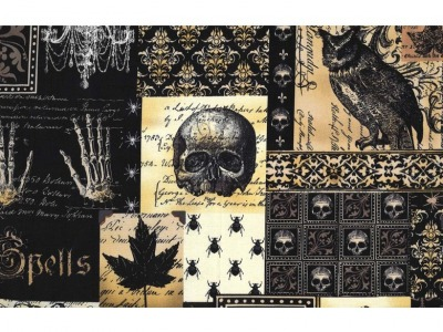 05m BW Nevermore Collage Vintage Gothic