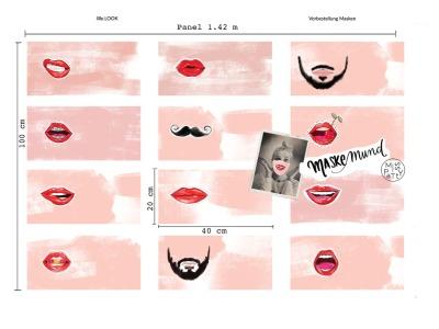 Panel Masken Mund by Miss Patty