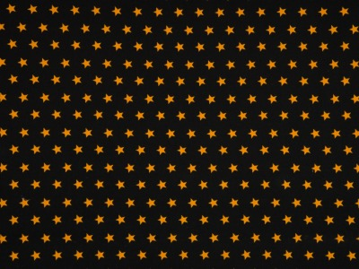 05m Jersey Sterne schwarz ocker