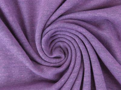 05m Jersey uni meliert flieder lavendel