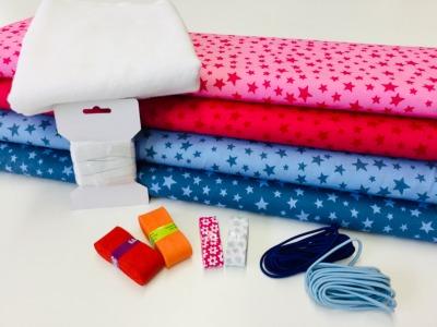 ANGEBOT 2m Baumwoll-Paket für Gesichtsmasken nähen