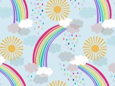 05m BW Pastel rainbows on Regenbogen