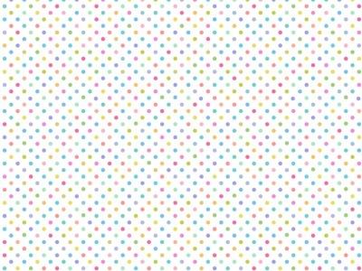 05m BW Pastell Rainbow Dots on