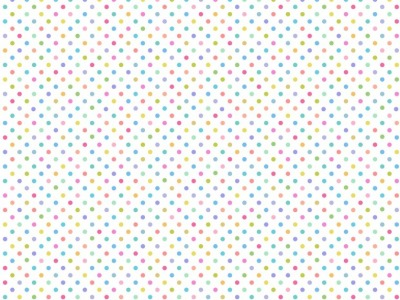 05m BW Pastell Rainbow Dots on