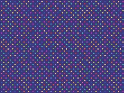 05m BW Bright Rainbow Dots Regenbogen