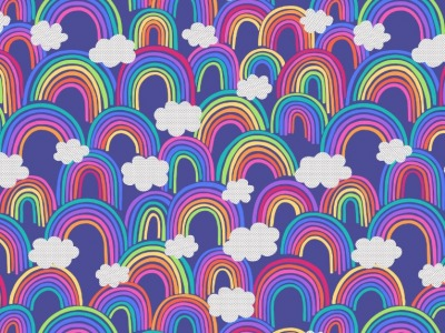 05m BW All over rainbows on