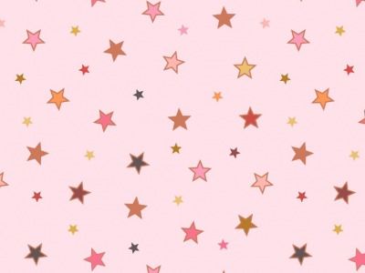 05m BW Calming stars with rose