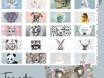 1 Panel Tier Masken Baumwolle Teil