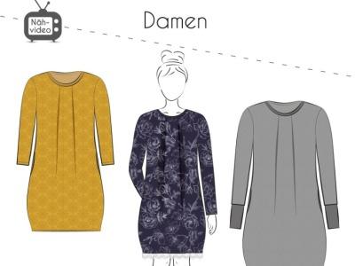Papierschnittmuster Fadenkäfer Kleid Amelie Gr 32-58