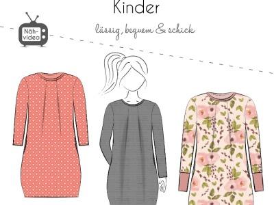 Papierschnittmuster Fadenkäfer Kleid Amelie Kids Gr