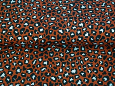 05m BW Leoprint kleines Muster rost