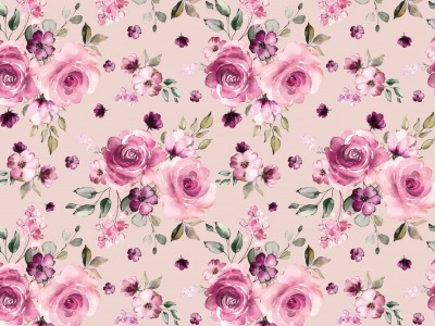 05m Jersey Digitaldruck Romantic Roses Blüten