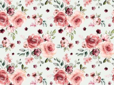 05m Jersey Digitaldruck Romantic Roses Blüten