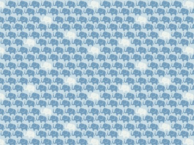 05m Baumwolle Mini Elefanten hellblau weitere