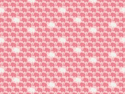 05m Baumwolle Mini Elefanten rosa weitere