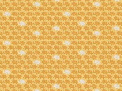 05m Baumwolle Mini Elefanten ocker weitere