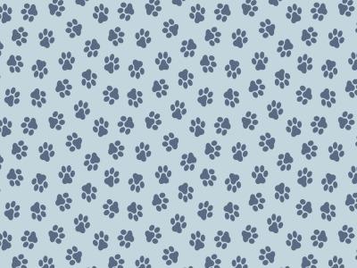 05m Baumwolle Pfoten Pfötchen hellblau weitere
