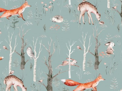 05m Jersey Tiere Wald Fuchs Igel