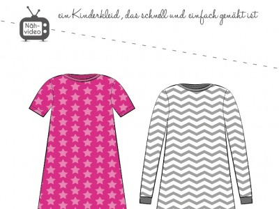 Papierschnittmuster Fadenkäfer Basic Kleid Kids Gr