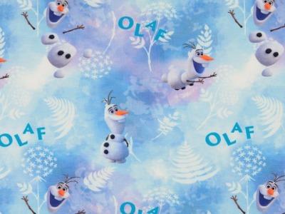 05m Jersey Frozen Olaf hellblau bunt