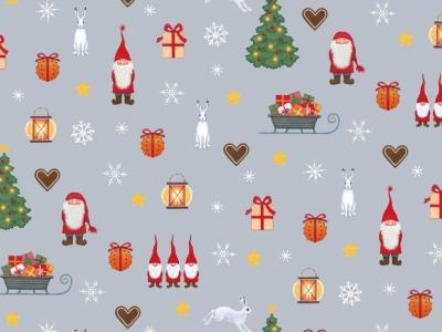 05m BW Tomtens Christmas Tomten festive