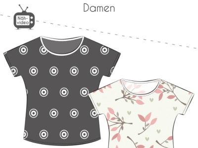 Papierschnittmuster Fadenkäfer Shirt Chilly Damen Gr
