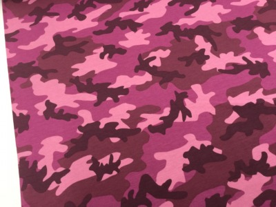 05m Jersey Camouflage Flecktarn rosa pink