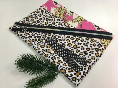 Materialpaket DIY für Kosmetiktaschen Leoprint und