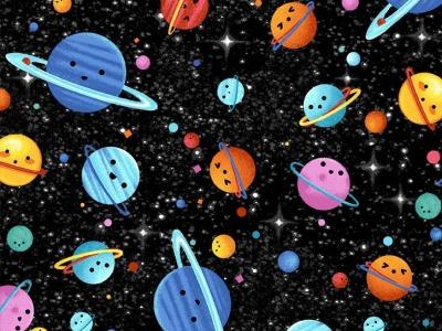 025m BW Michael Miller hula universe