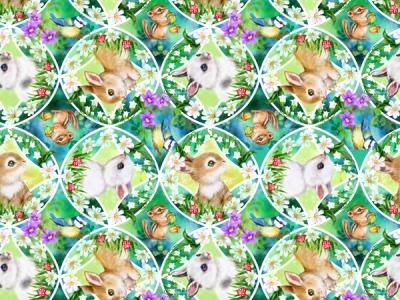 025m BW Bunny Meadows Bunny Medallion