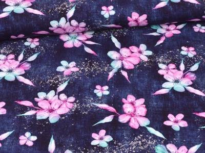 05m Sweat French Terry Blumen Flower
