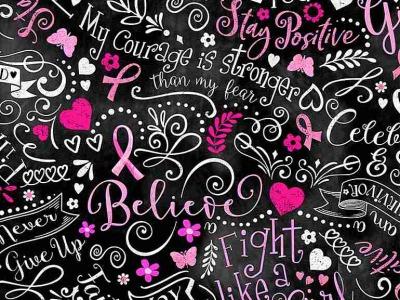 025m Baumwolle Timeless Treasures Pink Ribbon