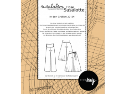 1Stk Susalotte Hose Papier Schnittmuster by