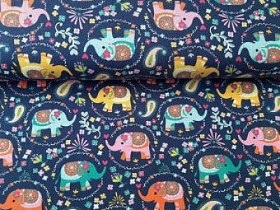 05m Jersey JESSE Kunterbunte Elefanten Blümchen