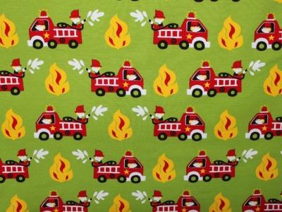 Jersey Feuerwehr Fireman hellgrün rot bunt