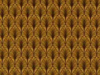 05m BW GASBY Blätter ocker dunkelbraun