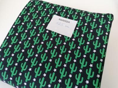 125m Sweat Kaktus schwarz grün Reststück