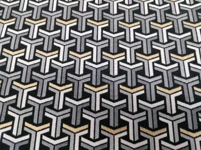 05m Dekostoff Jacquard Color Premium Metallic