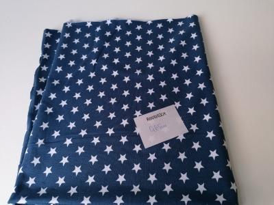 065m Jersey Reststück Jerseystars jeansblau weiß