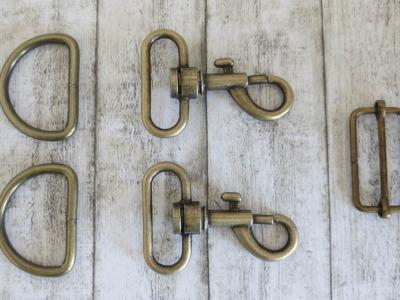 1Set Zubehör für Gurtband/Taschen 3cm altgold