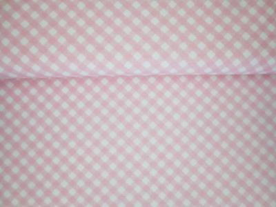05m BW Diagonal Karo rosa weiß